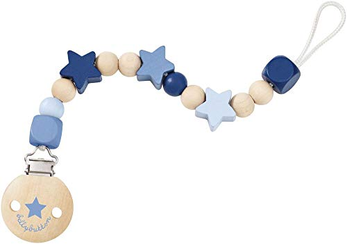 Selecta 64014 Sternchenglück, Schnullerkette - bellybutton, blau, 21 cm
