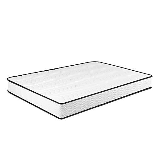 Matratze 90x200, 7-Zonen Federkernmatratze Memory Foam & Soft Gestrick H3, Optimale Unterstützung von Lenden-...