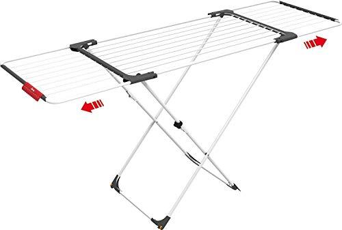 Vileda Surprise Wäscheständer, Stahl, Aluminium, Stahl, Aluminium, weiß, 62 x 12.5 x 133 cm