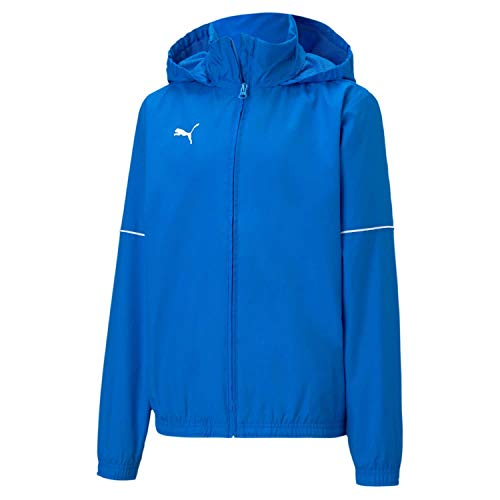 PUMA Jungen teamGOAL Rain Jacket Core Jr Trainingsjacke, Electric Blue Lemonade White, 152