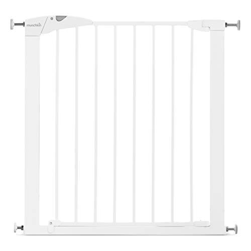 Munchkin Maxi-Secure Tür-/Treppenschutzgitter mit Druckbefestigung, Türschutzgitter für Kinder, Hunde und...