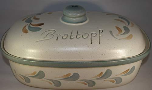 Töpferei Seifert Brottopf Schilf | Brotkasten | Brotbox | Brotdose | Brotbehälter | Steinzeug | LxBxH:...