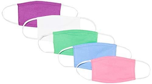 Oscar Apparels Kids Wiederverwendbare Stoffmaske, 100% BCI Baumwolle mit elastischer Schlaufe, Farbmix 1,...