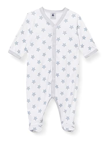 Petit Bateau Unisex Baby A00JB02 Nachthemd, Ecume/Mistigri, 1 Mois