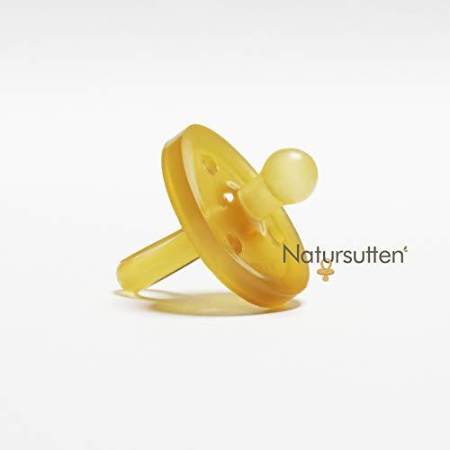✪ Natursutten Original Schnuller   100% Naturkautschuk   Sauger   runde Form   EINFACH ZU SÄUBERN  ...