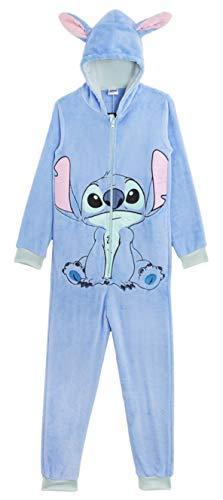 Disney Stitch Onesie, Vlies Pyjama Kinder, Tier Kostüme Schlafanzug Kinder, Kuschelig Jumpsuit Mädchen...