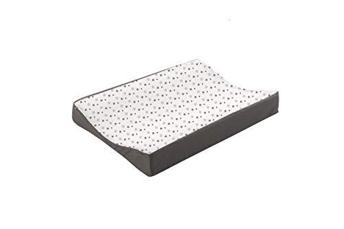 Träumeland TT80105 Wickelmulde Weiss mit grauen Sternen PVC-frei, 50 x 70 cm, mehrfarbig