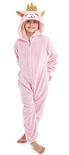 CityComfort Tier-Onesie für Kinder, super weicher Einteiler, Schlafanzug, bequem, Katzenkostüm, Faultier,...
