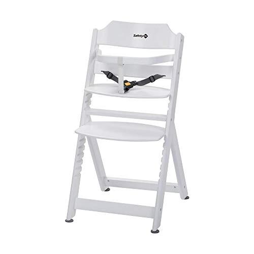 Safety 1st Timba Basic - Mitwachsender extragroßer Hochstuhl und Sicherheitsbügel ohne Tisch, weiß