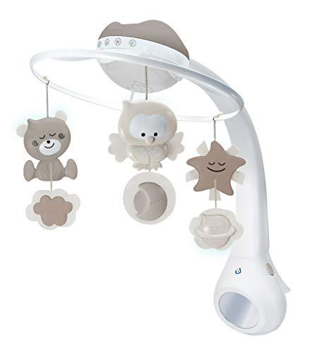 Infantino 3-in-1 Projector Musical Mobile in Grau – Mobile, Tisch- & Kinderbettlampe und Sternprojektor für...