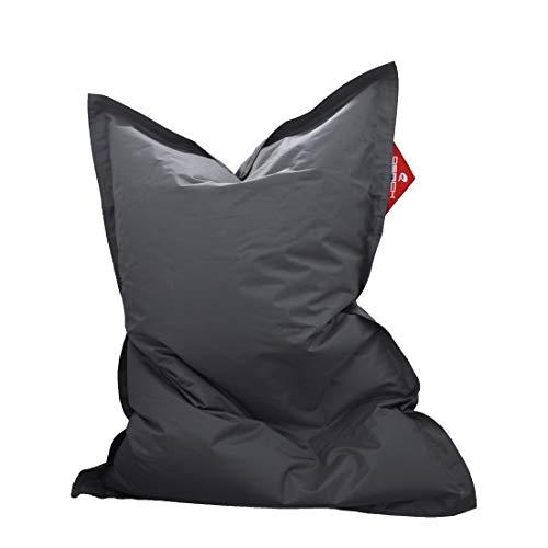 QSack Kindersitzsack Outdoorer, mit Innensack und Deutscher Qualitätsfüllung, 100x140 cm (dunkelgrau)