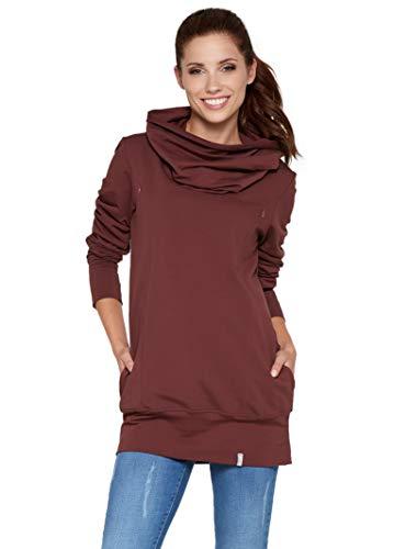 Be Mama - Maternity & Baby wear 2in1 Stillpullover, Umstandspullover, Umstandstunika aus Baumwolle, Modell:...