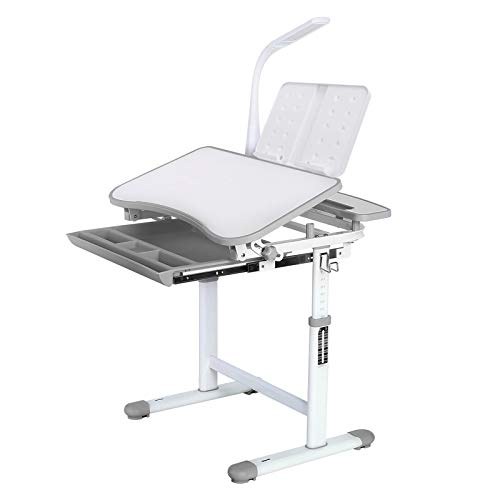 Homfa Kinderschreibtisch Schülerschreibtisch Kindertisch Schreibtisch höhenverstellbar, mit kippbarem...