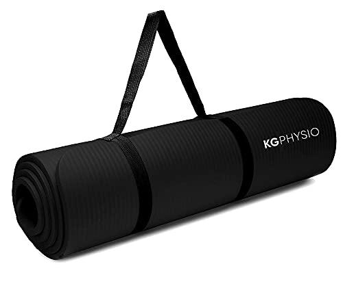 KG Physio Yogamatte Rutschfest - Sportmatte, Gymnastikmatte, Fitnessmatte, Trainingsmatte mit Tragegurt -...