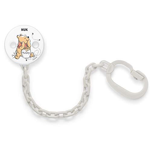 Nuk Disney Winnie Puuh Schnullerkette | mit Clip zur sicheren Befestigung des Schnullers an Baby's Kleidung...
