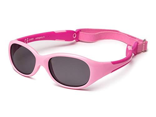 Kiddus Sonnenbrille aus Einem Stück. Für Babys Jungen Mädchen. Alter 0 bis 24 Monate. Sicherer UV400...