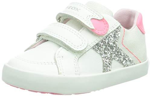 Geox Baby-Mädchen B Kilwi Girl A Sneaker, White/FLUOFUCHSIA, 23 EU