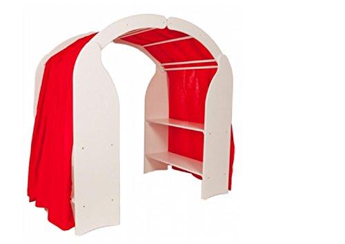Holzspielzeug-Peitz Weißer Kinder-Spielständer 1005 - Massiv-Holz - Spielküche - Kaufmannsladen