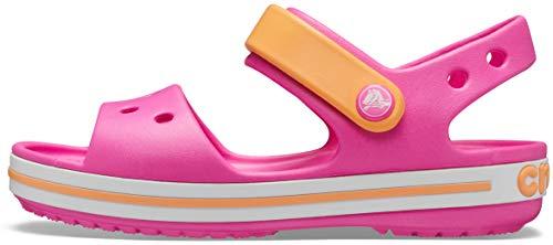 Crocs Jungen Unisex Kinder Crocband Kids' Sandal, Electric Pink/Cantaloupe, 29/30 EU