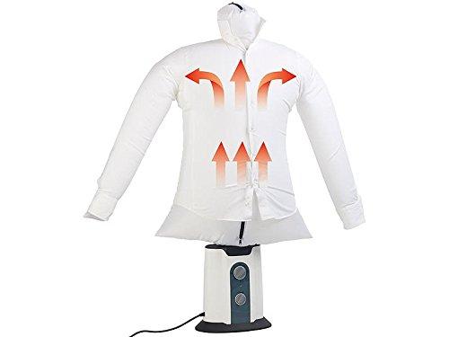 Sichler Haushaltsgeräte Hemdenbügler: 2in1-Bügelpuppe, Warmluft-Gebläse und Kleiderständer, Timer, 850...