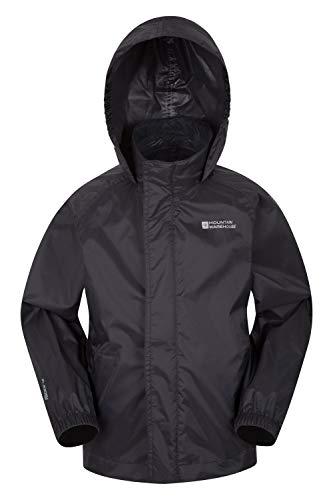 Mountain Warehouse Pakka wasserdichte Kinderjacke - 2 Taschen Kinderjacke, atmungsaktiv, packbare Regenjacke -...