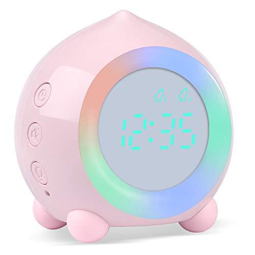 Kinderwecker Digitaler, Wecker Digital Sonnenaufgangssimulator Kinderwecker für Mädchen Jungen mit Bunte...