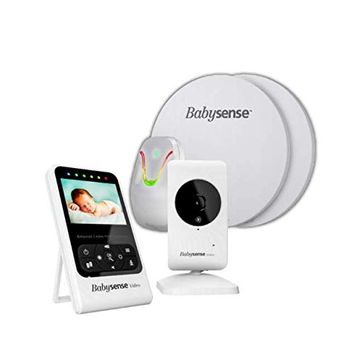 BABYSENSE SET V24R Babyphone mit Sensormatten und Kamera: Babysene Video Babyphone + Bewegung &...