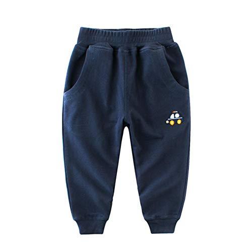 Miyanuby Kinder Kleinkind Baby Jungen Haremshose Baumwolle Aktive Lange Hosen Elastische Hose Jogginghose...