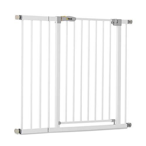 Hauck Türschutzgitter / Treppenschutzgitter für Kinder Open N Stop Safety Gate inkl. 21 cm Verlängerung /...
