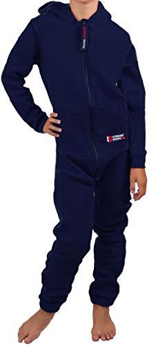 Gennadi Hoppe Kinder Jumpsuit - Jungen, Mädchen Onesie Jogger Einteiler Overall Jogging Anzug Trainingsanzug,...