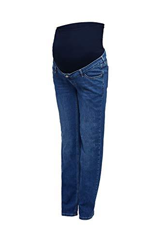 ESPRIT Maternity Damen Pants denim OTB straight Umstandsjeans, Blau (Medium Wash 960), 38/32