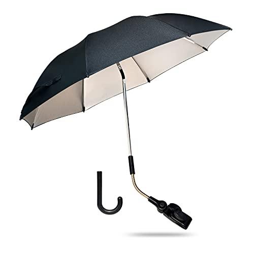 Kinderwagen-Sonnenschirm, Universal-Sonnenschirm 74 cm Durchmesser, UV-beschichtet für UV-Schutz, bewertet...