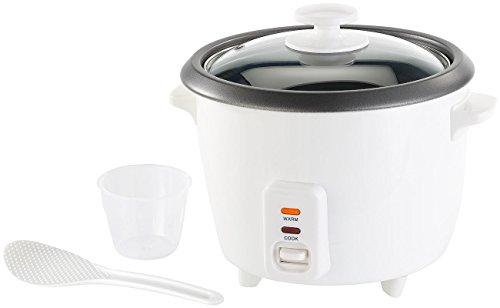 Rosenstein & Söhne Rice Cooker: Reiskocher mit Warmhaltefunktion, 400 Watt, 1 Liter Fassungsvermögen...