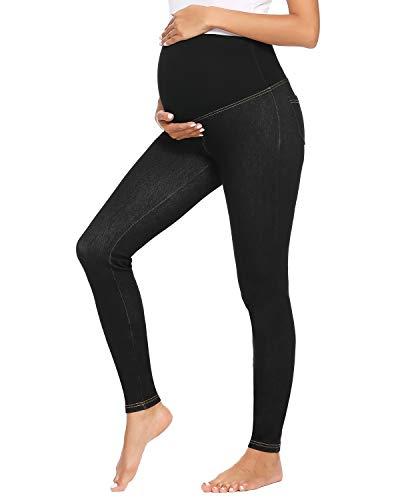 Love2Mi Super Elastisch Umstandsjeans, Skinny Denim Leggings für Schwangerschaft