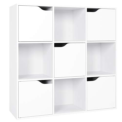 Homfa Bücherregal Raumteiler Raumtrenner Kinderregal Standregal Büroregal Holzregal Schrank Bücherschrank...