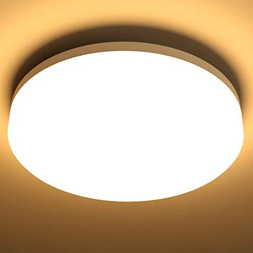LE 15W Deckenlampe, IP54 Wasserfest Badlampe, 3000K LED Deckenleuchte, 1250lm Lampen ideal für Badezimmer...