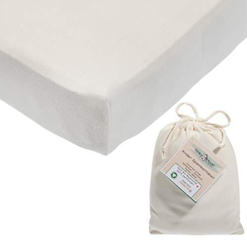 Spannbettlaken aus reiner BIO-Baumwolle für 70x140-60x120 cm Kinderbett | Kinder & Baby...