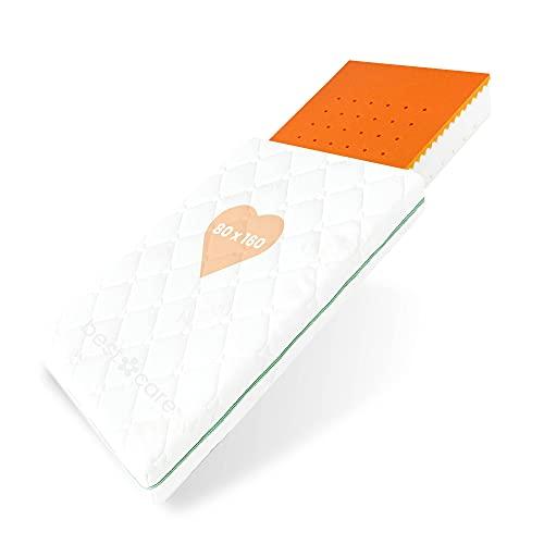 BestCare Kinderbettmatratze Visco | 80x160x13cm | Thermoelastische Memory Foam | Schaumstoff Baby und...