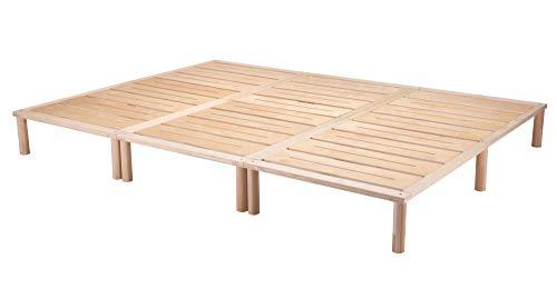Gigapur G1 29005 Bett, Co-Sleeping, Birke Schicht-Holz, Bettrahmen Belastbar bis 195 kg, Natur, 270 x 200 cm...