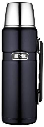 THERMOS 4003.256.120 Thermosflasche Stainless King, Edelstahl Midnight Blue 1,2 l, Drehverschluss, 24 Stunden...