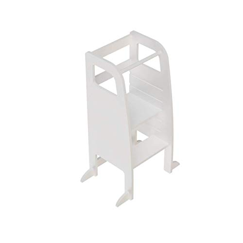 Atvi Kids, Learningtower - Verstellbare Böden - Lernturm - Entdeckerturm - Küchenhilfe (Weiß)