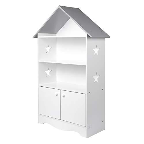 WOLTU KR006 Kinderregal Spielzeugregal mit Abschließbarer Tür, 3 Regale Bücherregal für Kinder, Mehrzweck...