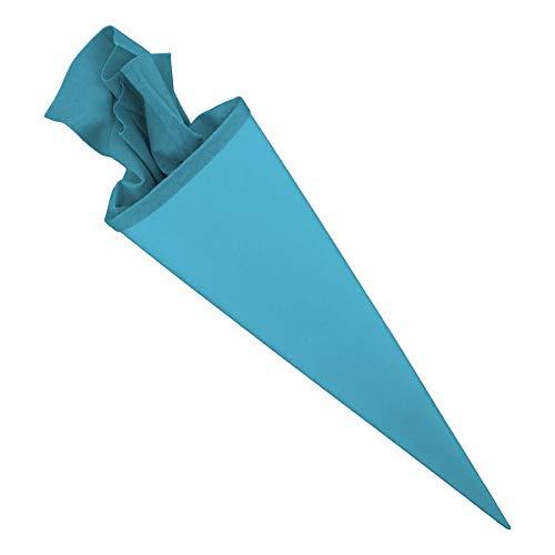 Bastelschultüte Schultütenrohling Zuckertüte Schultüte 70cm rund mit und ohne Filzverschluss (Pazifikblau...