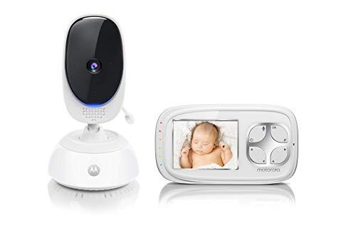 Motorola Comfort 35 Video-Babyphone mit Schwenk- und Zoomfunktion, 2.8 Zoll Farbdisplay, Nachtsicht,...