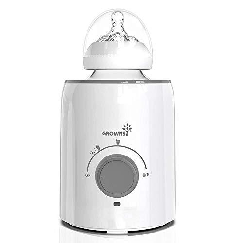 Flaschenwärmer, 5-in-1-Schnell-Babyflaschenwärmer und Sterilisator Babynahrungserhitzer&Auftauwärmer...
