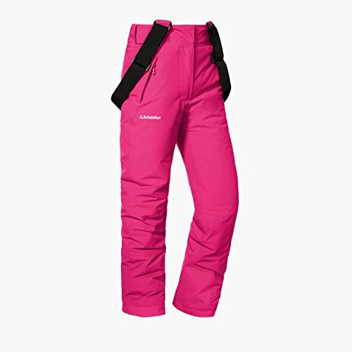 Schöffel Ski Pants Biarritz2, warme und wasserdichte Schneehose für Mädchen mit Schneefang, mitwachsende...