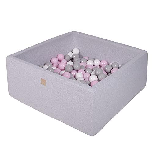 MEOWBABY Bällebad 90X90X40cm/200 Bälle ∅ 7Cm Baby Spielbad Mit Bällen Quadratisch Spielbälle Bällebad...