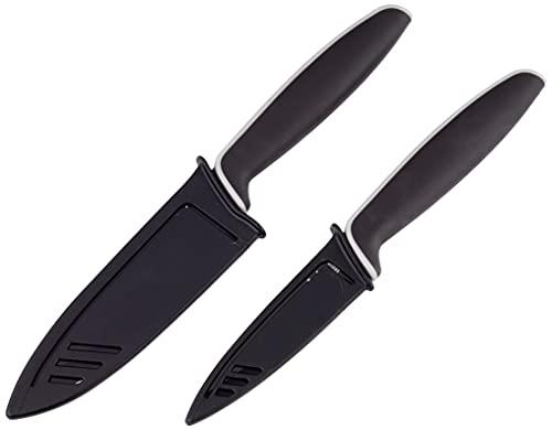 WMF Touch Messerset 2-teilig, Küchenmesser mit Schutzhülle, Spezialklingenstahl antihaftbeschichtet, scharf,...