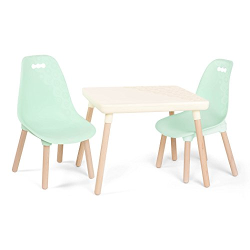 B. spaces by Battat – Kids Furniture Set Kindersitzgruppe– 1 Kindertisch & 2 Kinderstühle mit...
