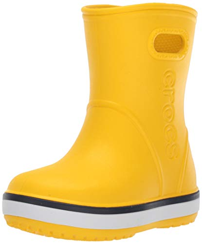 crocs Unisex-Kinder Crocband Rain Boot K Gummistiefel, Gelb (Yellow/Navy 734), 27/28 EU